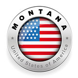 Montana Usa flag badge button