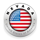 Nevada Usa flag badge button