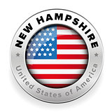 New Hampshire Usa flag badge button