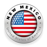 New Mexico Usa flag badge button