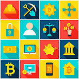 Cryptocurrency Bitcoin Colorful Icons