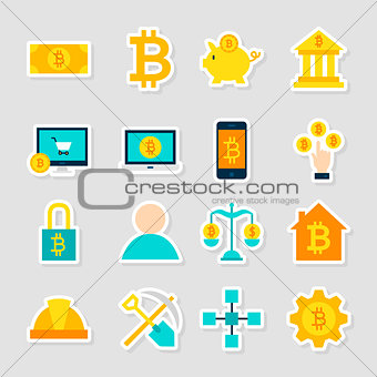 Cryptocurrency Bitcoin Stickers