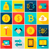Currency Bitcoin Colorful Icons