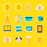 Currency Bitcoin Stickers