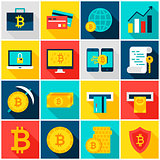 Bitcoin Currency Colorful Icons