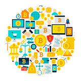 Bitcoin Icons Circle
