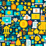 Bitcoin Tile Pattern