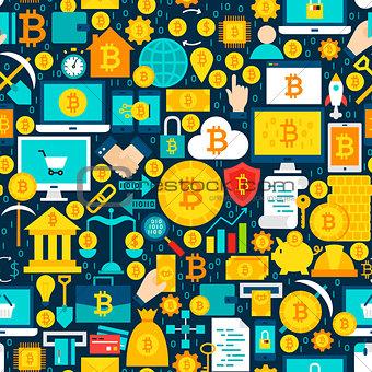 Bitcoin Tile Pattern
