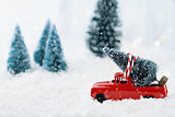 Vintage Truck and Christmas Tree