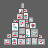 Christmas advent calendar, cute season decoration