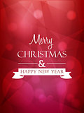 merry christmas and happy new year, red greeting card