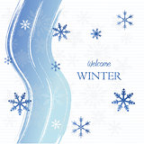 welcome winter with snowflakes