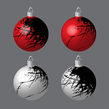 Decorative Balls Blotted for Christmas Tree