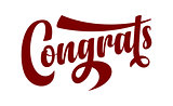 Congrats calligraphic text