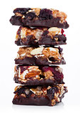 Cereal bar with almonds and cranberries chocolate