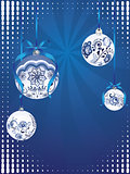 Blue Floral Christmas Ball