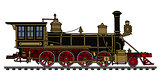 Vintage american steam locomotive