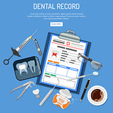 Medical Dental record concept