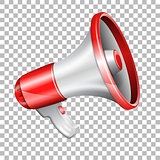 Megaphone on transparent background