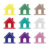 Home icons, different house icons for internet, vector, homepage