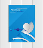 Vector blue brochure A5 or A4 format material design element corporate style