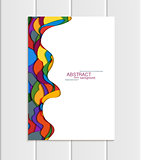 Vector brochure A5 or A4 format abstract uneven colorful shapes design element corporate style