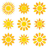 Sun collection icons