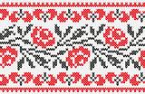 Ukrainian ornament knitting seamless texture