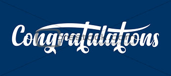 Congratulations calligraphic text