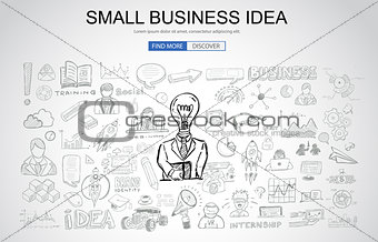 Small Business Idea concept with Business Doodle design style: o