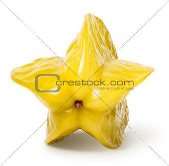 Carambola star fruit isolated