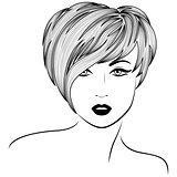 Girl with stylish short hair