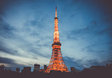 Tokyo tower at night, Japan