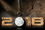 2018 New Year - Old Broken Pocket Watch