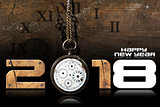 Happy New Year 2018 - Old Pocket Watch