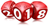 Happy New Year 2018 with Red Dice