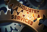 Industry Services on Golden Cog Gears. 3D.