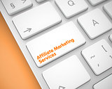Affiliate Marketing Services on the Keyboard. 3d.