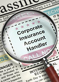 Job Opening Corporate Insurance Account Handler. 3D.