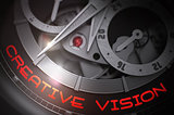Creative Vision on the Luxury Men Watch Mechanism. 3D.