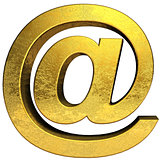 Golden email symbol