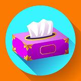 vector Tissue box flat icon