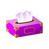 vector Tissue box flat icon