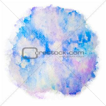 Watercolor splash on white background