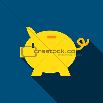 Bank Piggy Flat Icon