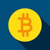 Bit Coin Flat Icon