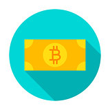 Bitcoin Banknote Circle Icon