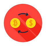 Bitcoin Exchange Circle Icon