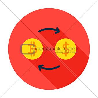 Bitcoin Exchange Circle Icon