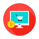 Bitcoin Ecommerce Circle Icon